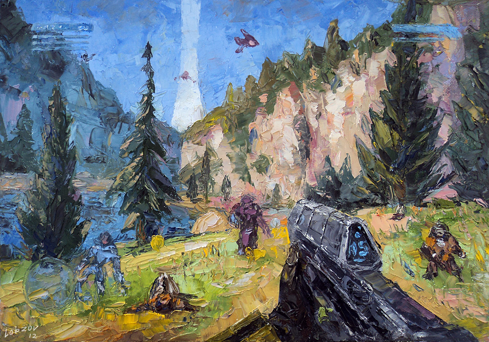 1000x700_11759_Halo_2d_fan_art_oil_painting_picture_image_digital_art
