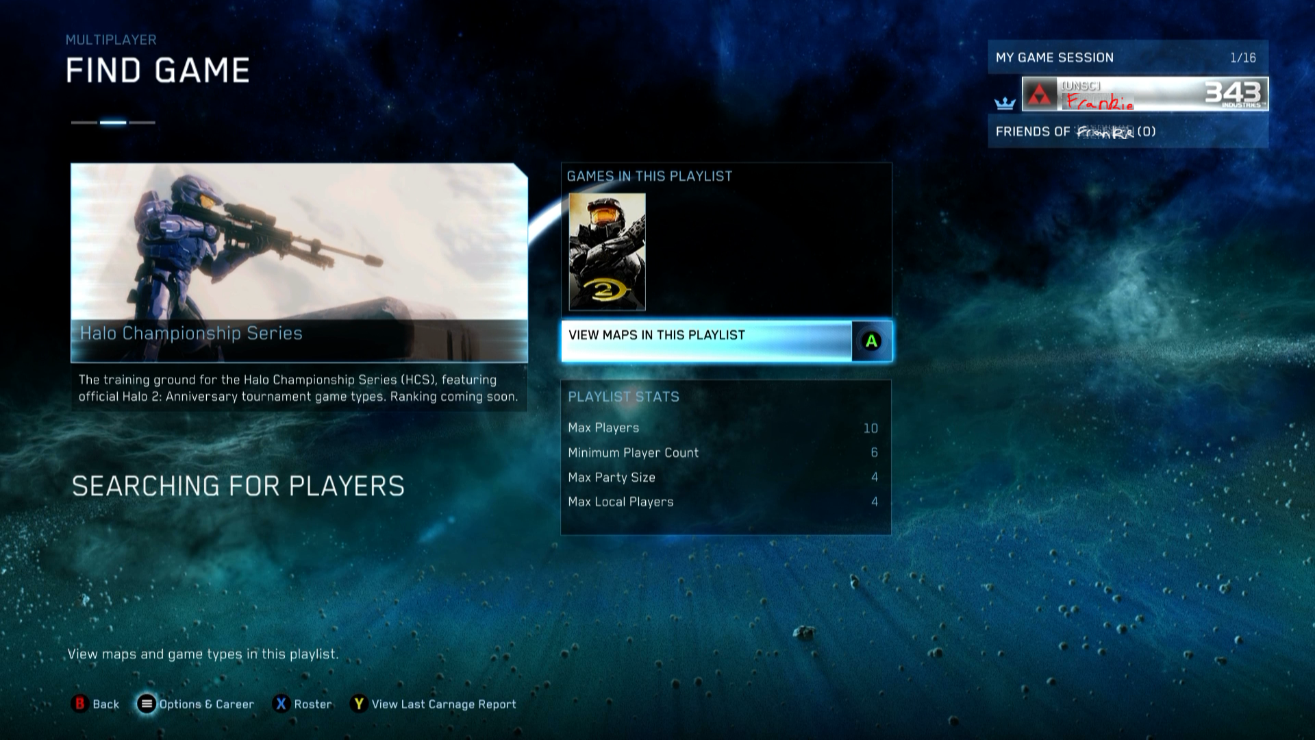 halo matchmaking 343 Matchmaking is a multiplayer system, which allows players or teams to be matched with others for the purpose of playing an online multiplayer game via xbox live (gold membership.